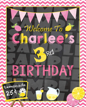 Printable Lemonade Stand Birthday Party Sign (Digital File Only)-Digital Download,Printable File-Forever Fab Boutique