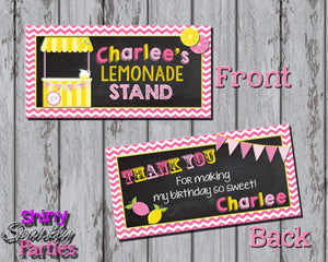 Printable Lemonade Stand Treat Bag Toppers (Digital File Only)-Printable File,Digital Download-Forever Fab Boutique