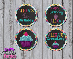 Printable Little Cupcake Birthday Party Cupcake Toppers (Digital Files Only)-Digital Download-Forever Fab Boutique