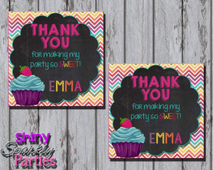 Printable Little Cupcake Favor Tags (Digital File Only)-Digital Download-Forever Fab Boutique