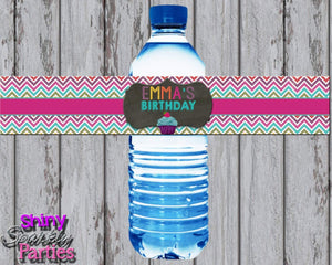 Printable Little Cupcake Water Bottle Labels (Digital Files Only)-Digital Download-Forever Fab Boutique