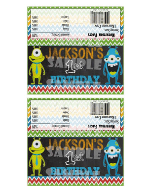 Printable Little Monster Candy Bar Wrappers (Digital File Only)-Digitial Download,Printable File-Forever Fab Boutique