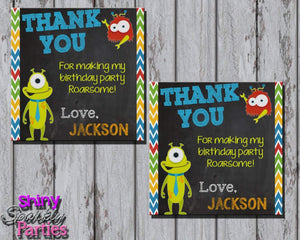 Printable Little Monster Party Favor Tags (Digital File Only)-Digital Download-Forever Fab Boutique