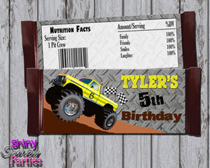 Printable Monster Truck Candy Bar Wrappers (Digital File Only)-Digital Download-Forever Fab Boutique