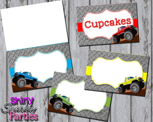 Printable Monster Truck Food Tent Signs Editable (Digital File Only)-Forever Fab Boutique