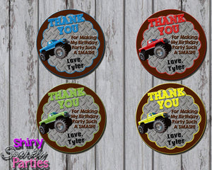 Printable Monster Truck Party Favor Tags (Digital File Only)-Digital Download-Forever Fab Boutique