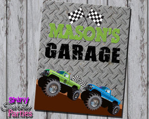 Printable Monster Truck Party Sign (Digital File Only)-Digital Download-Forever Fab Boutique