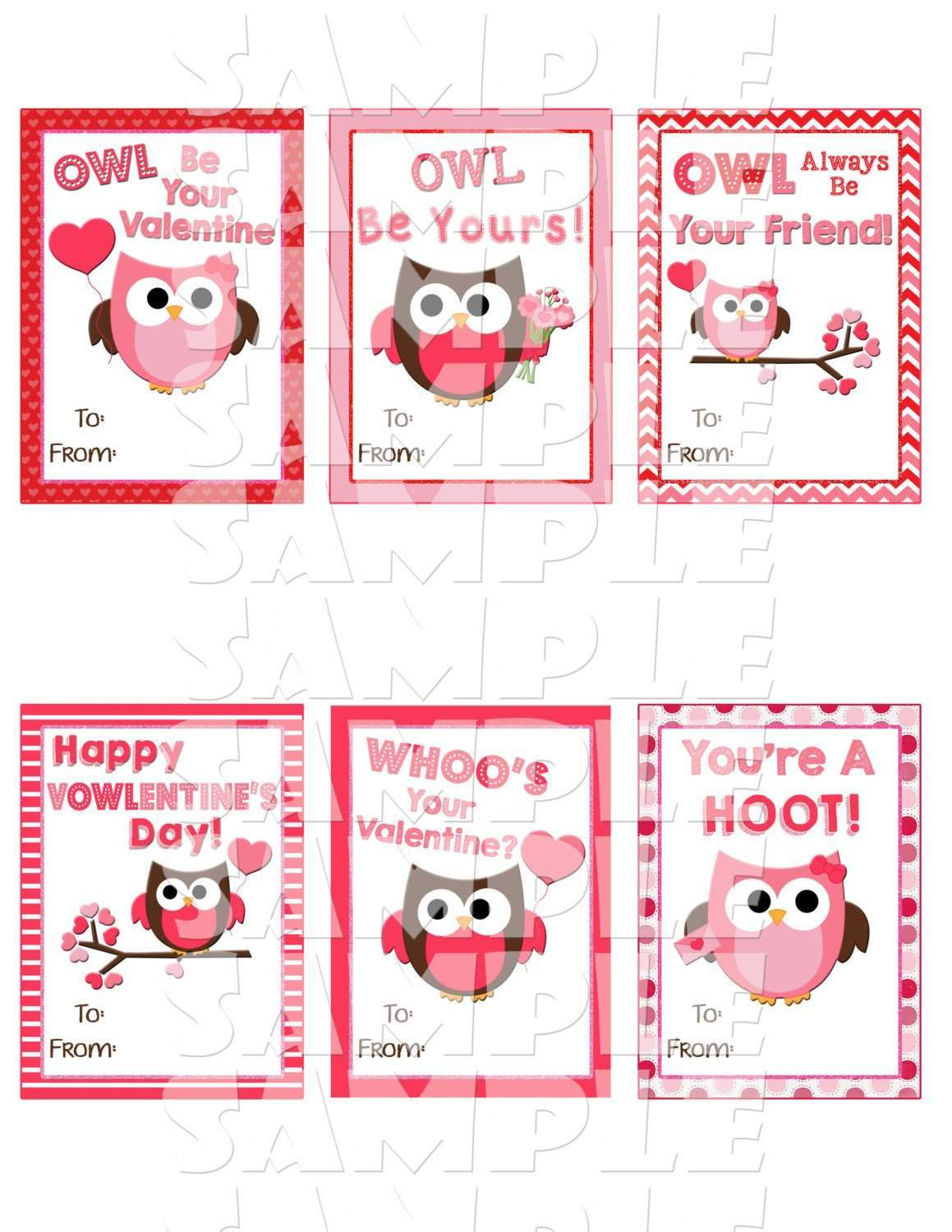 Owl Valentine Cards Forever Fab Boutique