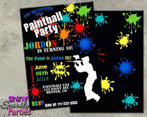 Printable Paintball Birthday Party Package (Digital Files Only)-Digital Download, Printable File, Party Package-Forever Fab Boutique