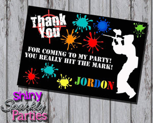 Printable Paintball Birthday Thank You Card (Digital File Only)-Digital Download-Forever Fab Boutique
