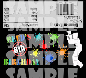 Printable Paintball Candy Bar Wrappers (Digital File Only)-Digital Download-Forever Fab Boutique