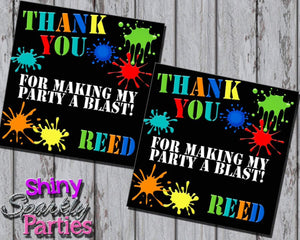 Printable Paintball Party Favor Tags (Digital File Only)-Digital Download-Forever Fab Boutique