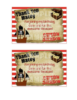 Printable Pirate Birthday Thank You Card (Digital File Only)-Digital Download-Forever Fab Boutique