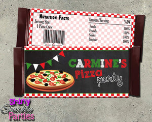 Printable Pizza Party Candy Bar Wrappers (Digital File Only)-Digital Download, Printable File-Forever Fab Boutique