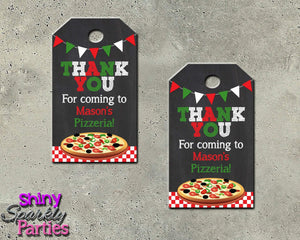 Printable Pizza Party Favor Tags (Digital File Only)-Digital Download, Printable File-Forever Fab Boutique