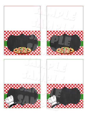Printable Pizza Party Food Tents Editable (Digital File Only)-Digital Download, Printable File, Instant Download-Forever Fab Boutique