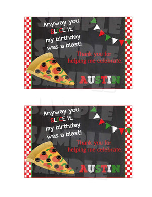 Printable Pizza Party Thank You Card (Digital File Only)-Digital Download, Printable File-Forever Fab Boutique