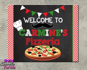 Printable Pizza Party Welcome Sign (Digital File Only)-Digital Download, Printable File-Forever Fab Boutique