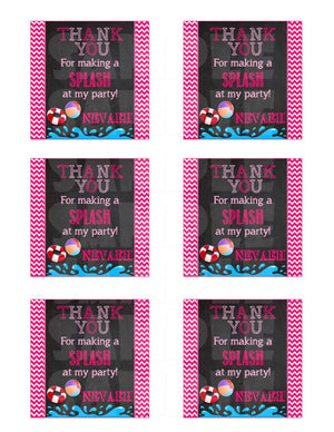 Printable Pool Party Favor Tags (Digital File Only)-Printable File,Digital Download-Forever Fab Boutique
