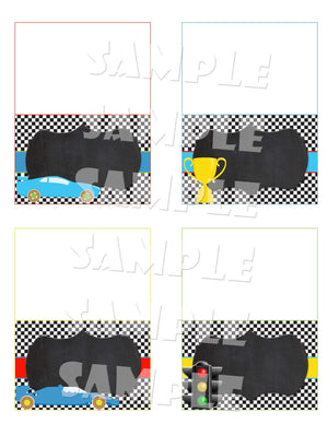 Printable Race Car Birthday Party Package (Digital Files Only)-Digital Download-Forever Fab Boutique