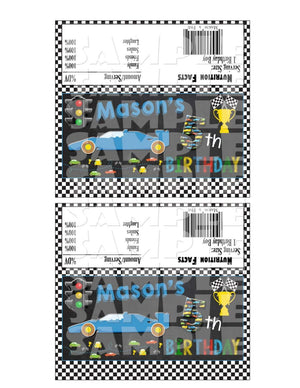 Printable Race Car Candy Bar Wrappers (Digital File Only)-Digital Download-Forever Fab Boutique