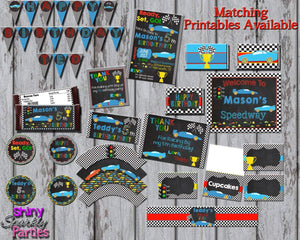 Printable Race Car Cupcake Toppers (Digital File Only)-Digital Download-Forever Fab Boutique