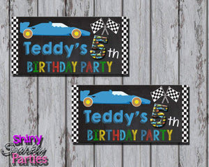 Printable Race Car Treat Bag Toppers (Digital File Only)-Digital Download-Forever Fab Boutique