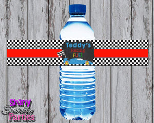 Printable Race Car Water Bottle Labels (Digital File Only)-Digital Download-Forever Fab Boutique