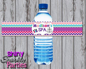 Printable Spa Water Bottle Labels (Digital File Only)-Digital Download-Forever Fab Boutique