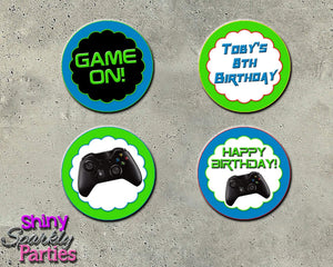 Printable Video Game Birthday Cupcake Toppers (Digital File Only)-Digital Download, Printable File-Forever Fab Boutique