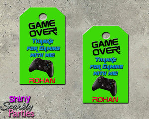 Printable Video Game Party Favor Tags (Digital File Only)-Digital Download, Printable File-Forever Fab Boutique