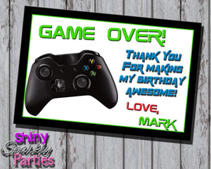 Printable Video Gaming Birthday Thank You Card (Digital File Only)-Digital Download-Forever Fab Boutique