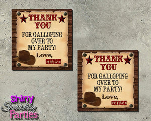 Printable Western Cowboy Party Favor Tags (Digital File Only)-Digital Download,Printable File-Forever Fab Boutique