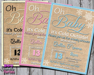 Printable Winter Baby Shower Invitation (Digital File Only)-Digital Download-Forever Fab Boutique