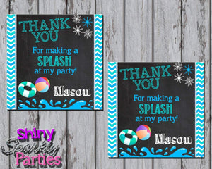 Printable Winter Indoor Pool Party Favor Tags (Digital File Only)-Forever Fab Boutique