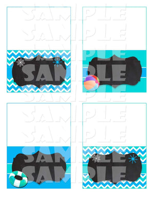 Printable Winter Pool Party Food Tent Signs Editable (Digital File Only)-Forever Fab Boutique