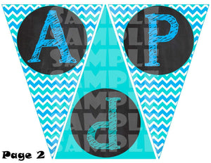 Printable Winter Pool Party Pendant Banner (Digital Files Only)-Digital Download-Forever Fab Boutique