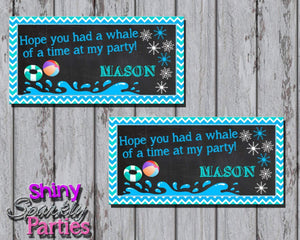 Printable Winter Pool Party Treat Bag Toppers (Digital File Only)-Digital Download-Forever Fab Boutique
