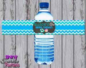 Printable Winter Pool Party Water Bottle Labels (Digital File Only)-Digital Download-Forever Fab Boutique