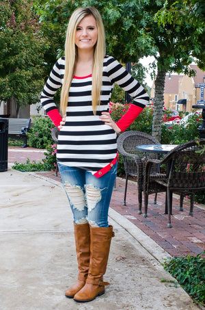 Sail Away With Me Striped Top-Top-Forever Fab Boutique