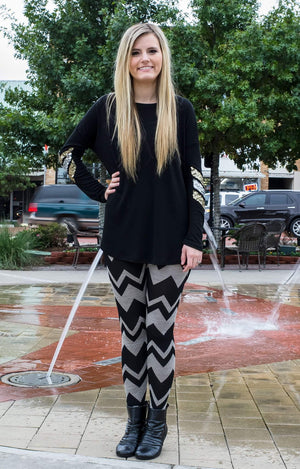 Shake It Off Tunic Black-Top-Forever Fab Boutique