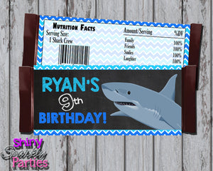 Shark Candy Bar Wrappers - Printable (Digital File Only)-Digital Download, Printable File-Forever Fab Boutique