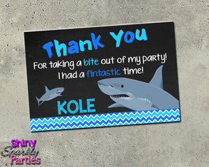 Shark Thank You Card - Printable (Digital File Only)-Digital Download, Printable File-Forever Fab Boutique