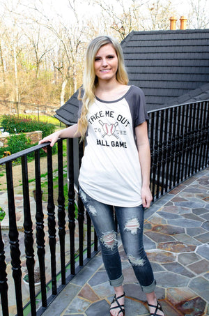 Take Me Out To The Ball Game Top-T-Shirt-Forever Fab Boutique