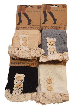 Touch of Class Boot Socks-accessory-Forever Fab Boutique