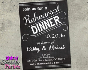 Wedding Rehearsal Dinner Invitation Printable (Digital File Only)-Digital Download, Printable File, Invitation-Forever Fab Boutique