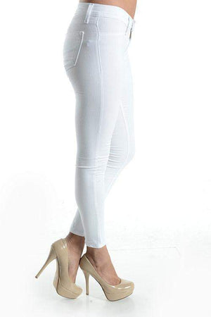 White Skinny Jeggings-Jeans-Forever Fab Boutique