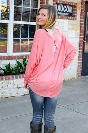 Wifey Slouchy Raglan Top Coral-Top-Forever Fab Boutique