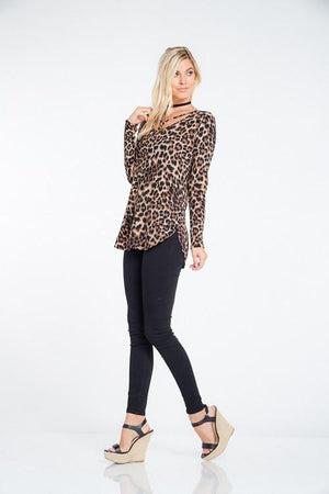 Wild About You Leopard Print Tunic Top-Top-Forever Fab Boutique