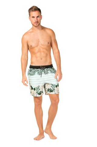 Agua Bendita Camellia Joe Trunks Green